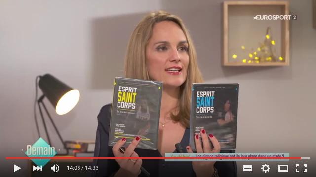 Géraldine Pons présent les DVD Esprit Saint Corps Saint