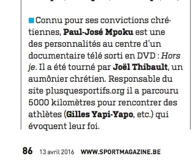 Mpoku dans Sport Foot magazine